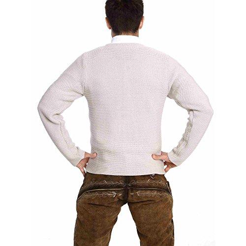 ALMBOCK Herren Strickjacke | Cardigan für Männer in natur grau | Trachten Strickjacke | Größen S, M, L, XL, XXL, XXXL - 6