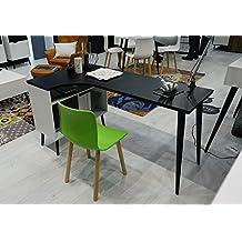 Malmo escritorio moderno estilo Retro salón oficina blanco/negro–ancho: 145cm