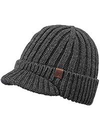 d0899b1e0ee Barts Mens Silo Knitted Fleece Lined Winter Beanie Visor Hat