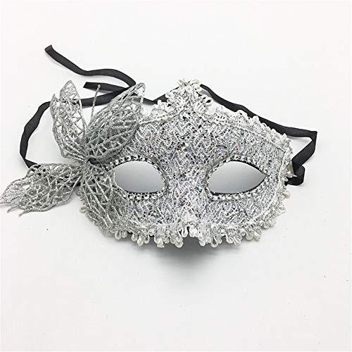wachsene Maskerade Party Maske Halloween Prinzessin Maske Prom Schmetterling Maske Party Augenmaske, Silber Spielzeug ()