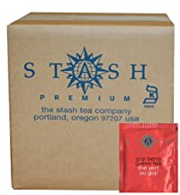 Stash Tea Goji Berry Green Tea, 100 Count Box of Tea Bags in Foil