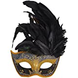 Coofit® Pretty Princess Venetian Mask Colorful Painting Greek Roman with Feather for Woman
