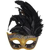 Mascara de Mujer, Coofit Mascara Veneciana Plumas Mascaras Carnaval Masquerade Máscara de Encaje Metal Mascara Laser