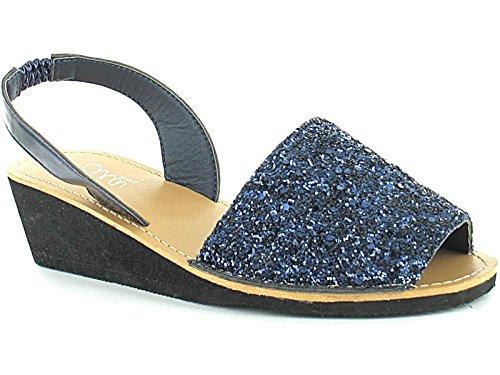 Foster Footwear , Sandales Compensées fille femme Bleu Marine
