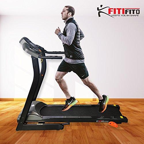 Fitifito 510A Laufband 3PS 12km/h mit LCD Bildschirm - Klappbar, Schwarz