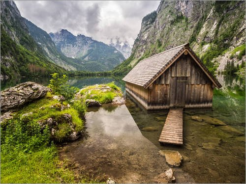 impresion-en-madera-40-x-30-cm-lonely-hut-at-obersee-konigssee-de-andreas-wonisch