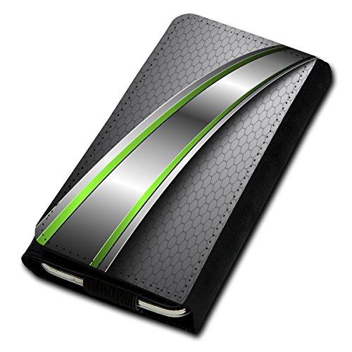 Book Style Flip Handy Tasche Case Schutz Hülle Foto Schale Motiv Etui für Kyocera KC-S701 Torque - Flip U1 Design10