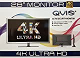 QVIS 28' ULTRA HD 4K CCTV large security display LED monitor 16:9 2x HDMI 2x 1.2DP