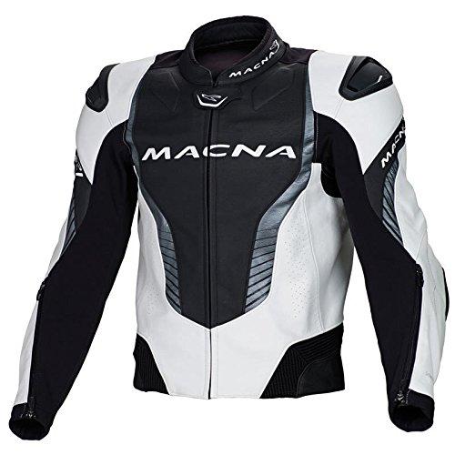 Macna Flash Lederjacke 48 Weiß