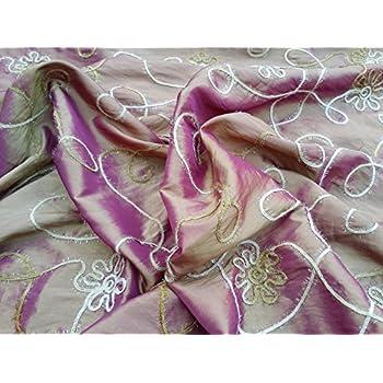 Prestige Fabrics New Fabrics Gold Shot Pink Circles Spotty
