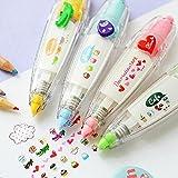 MANGO King - 1 cinta de corrección decorativa para escuela, suministros de papelería coreana, varios colores, color multicolor