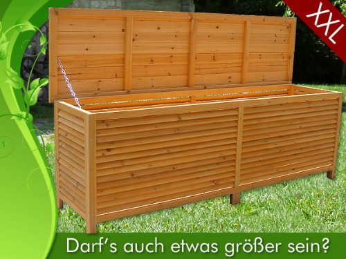 2in1 holz bank auflagenbox kissenbox gartenbank gartenm bel truhe holztruhe. Black Bedroom Furniture Sets. Home Design Ideas