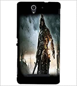 PrintDhaba Warrior D-2051 Back Case Cover for SONY XPERIA C3 (Multi-Coloured)