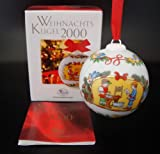 Hutschenreuther Weihnachtskugel 2000*Rarität, Baumkugel, Porzellankugel, Anhänger, Baumanhänger, Baumschmuck, Weihnachten