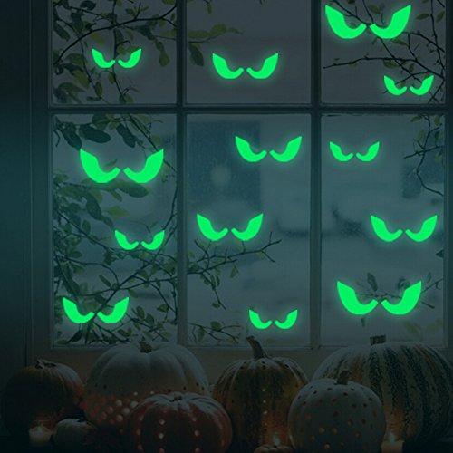 Dark Halloween The Glow In (Luminous Eyes Wandaufkleber - Halloween Noctilucent Glow In The Dark Window Tür Wandaufkleber DIY Decal)
