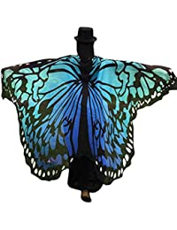 OverDose Disfraz Para Mujer/Niños Mariposa Alas Chal Hada NINFA duendecillo Cosplay Capa Disfraces