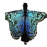 Overdose 197*125CM Frauen Weiche Gewebe Schmetterlings Flügel Schal feenhafte Damen
