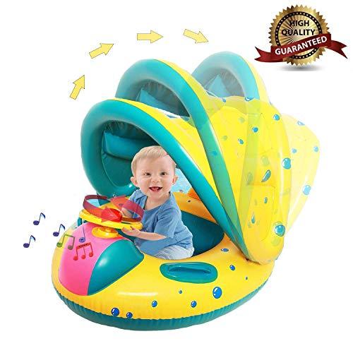 Baby schwimmring mit sonnendach Aufblasbares Kinderboot Aufblasbarer Schwimmhilfe Baby Pool Schwimmring Aufblasbares Schwimmen Ring Schwimmsitz