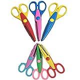 6pcs coloré décoratifs Creative Crafts Arts Craft Ciseaux avec 2tailles différentes pour les enseignants, les étudiants, les travaux manuels, scrapbooking