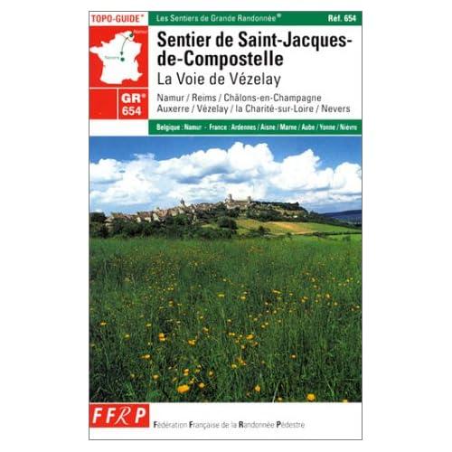 Carte de randonnée : Sentier de Saint-Jacques-de-Compostelle : La Voie de Vézelay