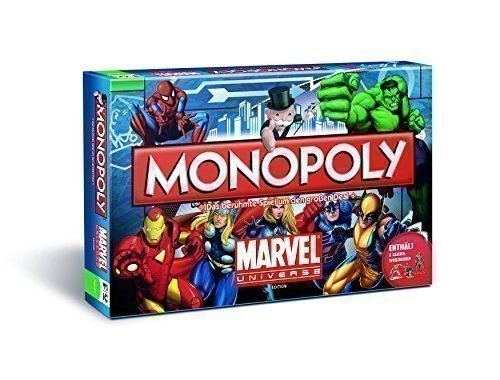 Monopoly Marvel Universe Edition Brettspiel - Deutsch - X-Men The Avengers Spiderman Hulk Ironman Die Fantastischen (Die Avengers Superhelden)