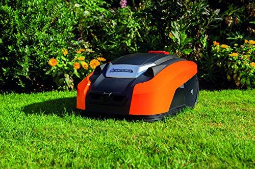 YARD FORCE X60i Mähroboter mit App-Steuerung – Selbstfahrender Rasenmäher Roboter mit Regensensor – Akku Rasenroboter für bis zu 600m² Rasen & 40% Steigung 28 V, schwarz/orange - 3