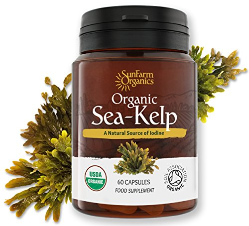 Certified Organic Iodine from 500mg Kelp Giving 385mcg Iodine per capsule 256% RDA Contributes to Normal Thyroid Function -