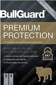 BullGuard Anti-Virus: Premium Protection 2021 Edition |1 license supports 5 Multi Devices |1 Year| (Email deli