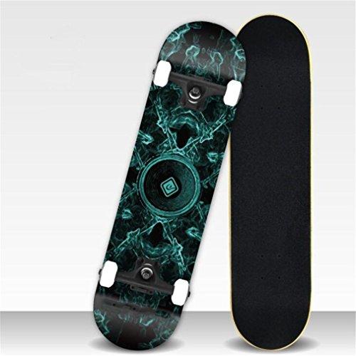 ZERO FAN Skateboard, Skate Board, Skateboards-Professional Shock Widerstand Wasserdicht Chrismas Geschenk Für Kinder Amateur Erwachsene,Green