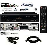 Pack Receptor Strong SRT 7404 HD + Tarjeta Viaccess TNTSAT + Cable HDMi + Cordón 12V