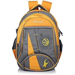 Bag-Age Fastball Laptop College Backpack (Yellow)