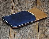 Azul y café claro estuche billetera funda de cuero para Google Pixel...