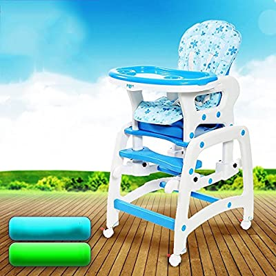 Sofa stool Brisk- Multifunction Children's Dining Chair Baby Dining Table And Chair Collapsible Dining Chair Portable Meal Seat (Color : Blue)