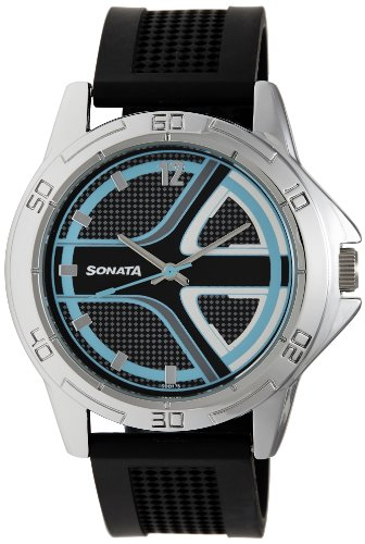 Sonata Analog Multi-color Dial Men's Watch - 77001SP01A image