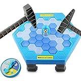 AiSi 38 Stück Eiswürfel Eltern und Kinder Pinguin Spiel, Retten der Pinguin, Eis brechen Spielzeug, Tischspiel (Drehscheibe Eishammer Eiswürfel Pinguin) ab 3 Jahre alt