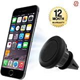 Supreno Universal Magnetic Car Air Vent Phone Holder For Android/iOS Devices (Color May Vary)