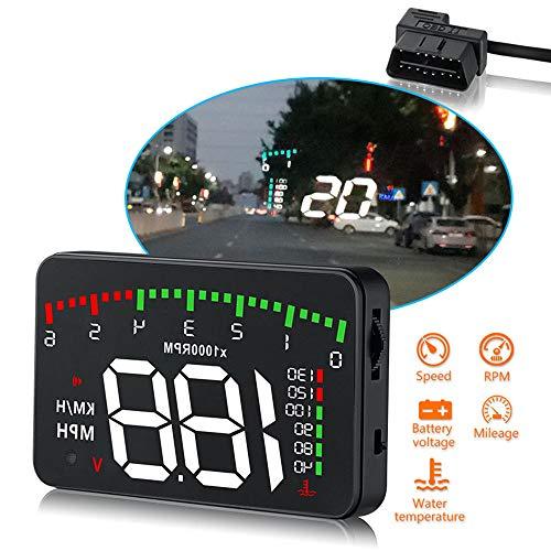 3.5'HUD Head-Up Display Car-styling OBD II Velocità veicolo MPH KM/h, RPM motore, OverSpeed   Warning, misurazione del chilometraggio