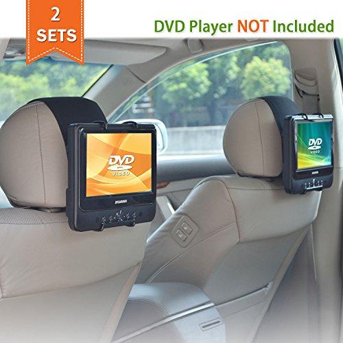 WANPOOL Auto Kopfstützen Halterung für die meisten 7-10 Zoll tragbaren DVD-Player mit schwenkbaren Monitor - 2 Stück - Zoll Tragbare 9 Tv-dvd-player