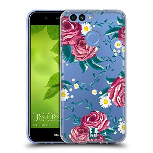 Head Case Designs Reben Flower Power Soft Gel Hülle für Huawei Nova 2 (Gel Case Power)