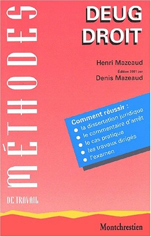 Methodes de Travail par Mazeaud