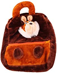 JBB Original Cute Teddy Soft Toy School Bag For Kids, Travelling Bag, Carry Bag, Picnic Bag, Teddy Bag (Brown). - B0768CNQ99