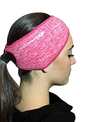 PaarFORMANCE Pferdeschwanz-Stirnband für Damen, Junioren, Mädchen, Winter, kalte Windbrise, Rose - Junioren Rose