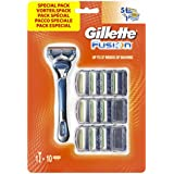 Gillette Fusion Rasoir pour Homme avec 10 Recharges