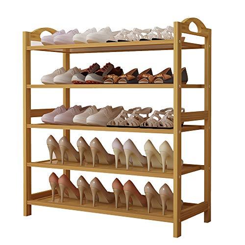 UDEAR Multiuso Zapatero de 5 Pisos estantería para Zapatos de bambú Organizador, Ideal para Entrada...