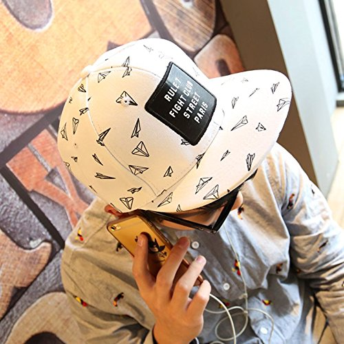 Hatrita-J Sommer Hüte für Männer und Frauen tide hip-hop hip hop Cap flache Hut paar Schirmmütze Kinder Baseball cap Verstellbar Paper Plane Absatz (Paper Hut Boy)