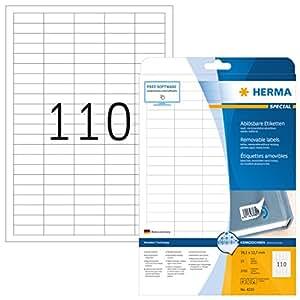 HERMA Vielzweck-Etiketten 26 x 40 mm Kl weiß
