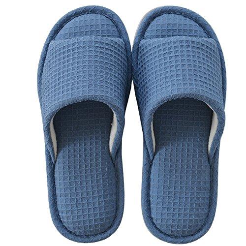 Gemütlich Sommer-Pantoffeln Reisen ziehen die Anti-Rutsch-Bad-Pantoffeln Baumwoll-Haus-Pantoffeln Damen-Paar coole Pantoffeln (2 Farben optional) (Größe optional) Erhöht ( Farbe : B , größe : 42(40-41) )