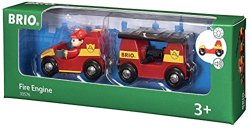 BRIO BRI-33576 Rail Light and Sound Fire Engine