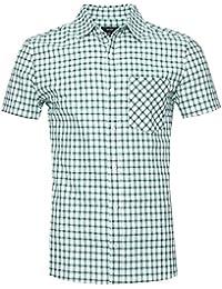 fe1d9f8d91 NUTEXROL Camisas de Hombre Camisa a Cuadros Camisas de Vestir