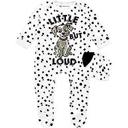 Disney Les 101 Dalmatiens - Dors Bien et Chapeau Ensemble - 101 Dalmatians - Bébé Fille - Blanc - 0-3 Mois